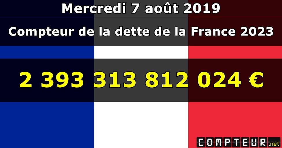 France De Dette France La Compteur Compteur La De Dette Compteur De TF1ulJc3K